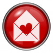 Red round glossy icon — Foto de Stock