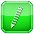 Green square shiny icon — Stock Photo