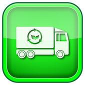 Green square shiny icon — Stock Photo