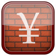 Bricks wall icon — 图库照片