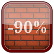 Bricks wall icon — Stok fotoğraf