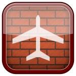 Bricks wall icon — Stock Photo