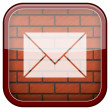 Bricks wall icon — Foto Stock