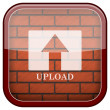 Bricks wall icon — Stock Photo