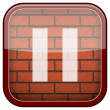 Bricks wall icon — Photo
