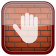 Bricks wall icon — Stockfoto