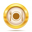 Golden shiny icon — Lizenzfreies Foto