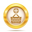 Golden shiny icon — Stock fotografie
