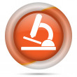 Orange plastic icon — Stock Photo