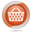 Orange plastic icon — Foto Stock