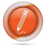 Orange plastic icon — Stock Photo #29425329