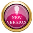 Magenta glossy icon — Photo