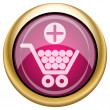 magenta glanzende pictogram — Stockfoto