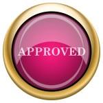 Magenta glossy icon — Stock Photo #29539767