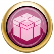 Magenta glossy icon — Stock Photo