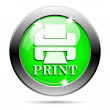 Metallic green glossy icon — Stockfoto