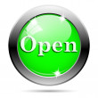 Metallic green glossy icon — Foto Stock