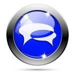 Metallic blue glossy icon — Stock Photo #30864423