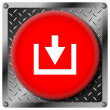 Download metallic icon — Stock Photo