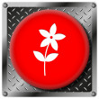 Flower  metallic icon — Foto Stock