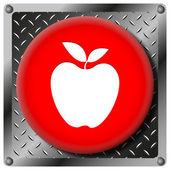 Elma metalik simgesi — Stok fotoğraf