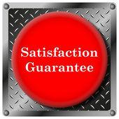 Satisfaction guarantee metallic icon — Stock Photo