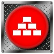 Stock Photo: Organizational chart metallic icon