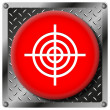 Target metallic icon — Stock Photo