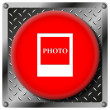 Photo metallic icon — Stock Photo