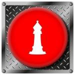 Постер, плакат: Chess metallic icon