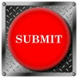 Submit metallic icon — Stock Photo