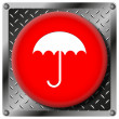 Umbrella metallic icon — Stock Photo