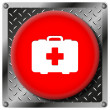 Medical bag metallic icon — Stock Photo