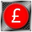 Pound metallic icon — Stock Photo