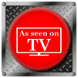Stock Photo: As seen on TV metallic icon