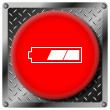 2 thirds charged battery metallic icon — Stock Photo