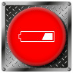 Постер, плакат: 1 third charged battery metallic icon