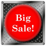 Постер, плакат: Big sale metallic icon