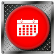 Calendar metallic icon — Stock Photo