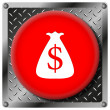 Dollar sack metallic icon — Stock Photo #31531659