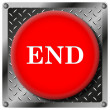 End metallic icon — Stock Photo #31531711