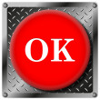OK metallic icon — Stock Photo
