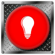 Light bulb - idea metallic icon — Stock Photo