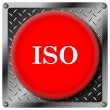 ISO metallic icon — Stock Photo