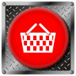 Shopping basket metallic icon — Stock fotografie