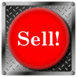 Sell metallic icon — Stock Photo