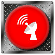 Wireless antenna metallic icon — Foto de Stock