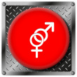 Sex metallic icon — Stock Photo