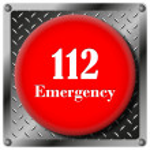 Постер, плакат: 112 Emergency metallic icon