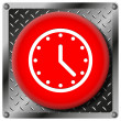 Clock metallic icon — Stock Photo